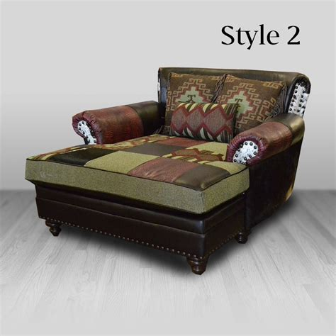 Cowhide Western Furniture Company by Calico Chaise Cowhide Western Furniture