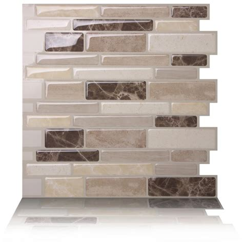 decorative wall tiles kitchen backsplash tic tac tiles polito 10 in w x 10 in h peel and