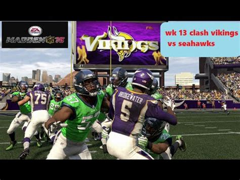 week  seattle seahawks  vikings prediction youtube
