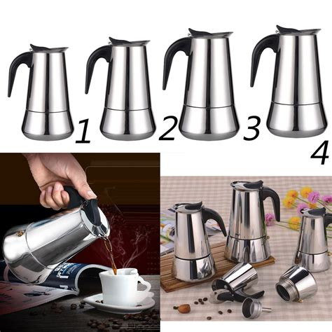 Brewing delicious coffee from the comfort of your own home doesn't have to be a hassle. Moka Induction Italian Stovetop Espresso Coffee Maker ...