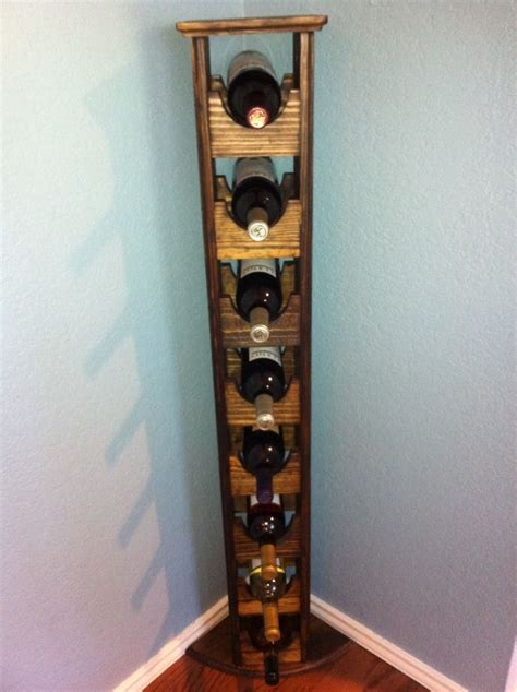 buy  hand crafted tall skinny wine rack   order  thh creations custommadecom