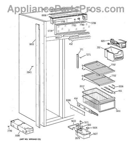 parts  ge zisnya freezer section parts appliancepartsproscom