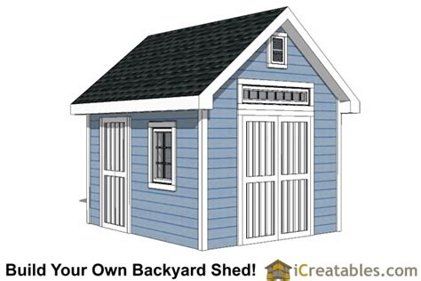 10x12 Gable Storage Shed Plans by 10x12 Shed Plans Building Your Own Storage Shed
