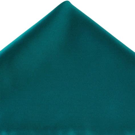 teal green plain teal green pocket square handkerchief from ties