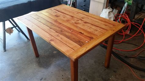 Rustic Table Made From Scrap Wood Great Patio Easy To Make