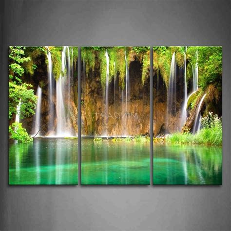 15 Inspirations Of Waterfall Wall Art. Mirror Decorations. Affordable Room Dividers. Rooms In Reno. Red And Turquoise Living Room Ideas. Rustic Room Dividers. Desk For Room. Modern Tv Shelf For Living Room. Grey Living Room Walls