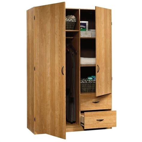 sauder beginnings storage cabinet in highland oak 413328