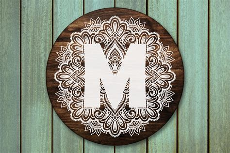 Mandala design layered cutting file. Mandala Alphabet Svg, Mandala Letter Svg, Zentangle ...