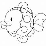Fish Coloring Pages Printable Funny Round Educative Animal Via Bestappsforkids sketch template