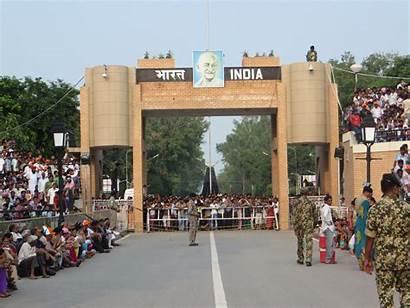 Border Wagah Amritsar Places Indian Punjab Pakistan