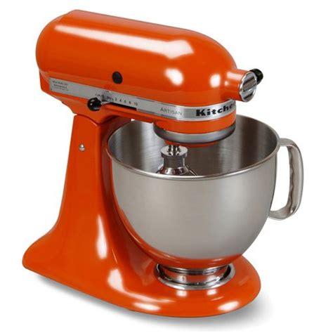 kitchenaid mixer stand artisan orange kitchen persimmon aid beso
