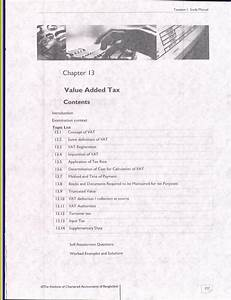 13  Value Added Tax  Icab  Kl  Study Manual