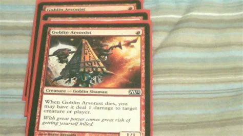Magic The Gathering Monored Goblins Deck Tech Youtube