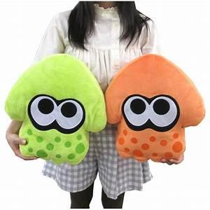 Splatoon Inkling Squid Cushion Green Nintendo Official