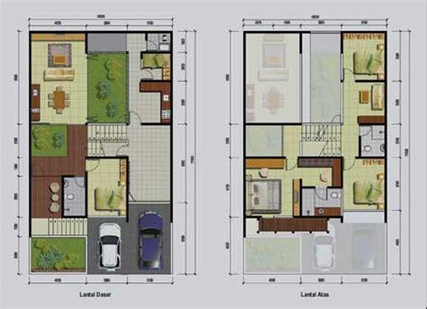 gambar denah rumah ukuran   kamar tidur  desain