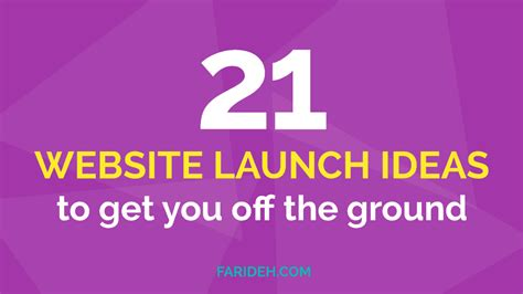 new website ideas 21 website launch ideas to get you off the ground