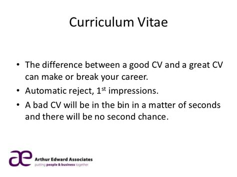Cv Advice by Arthur Edward Associates Cv Advice