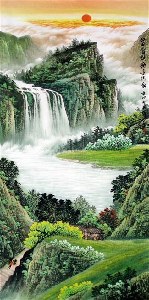 Chinese Waterfall Painting 1151009, 69cm x 138cm(27〃 x 54〃)