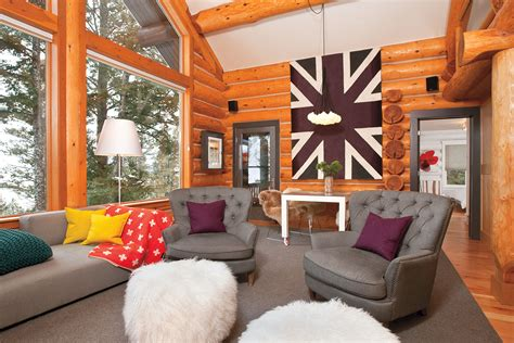contemporary mountain cabin  cottage journal