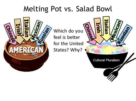 melting pot or salad bowl define salad bowl and melting pot image mag