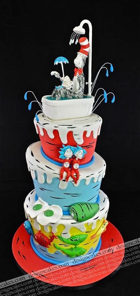 dr seuss cake dr seuss cake cake ideas one fish two fish