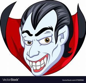 Vampire face cartoon Royalty Free Vector Image