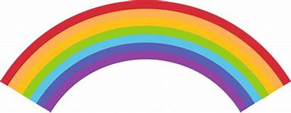 Rainbow Colorful Clip Graphics Clouds End Puffy