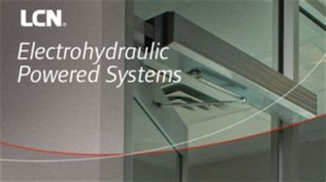 lcn electrohydraulic powered door opener systems