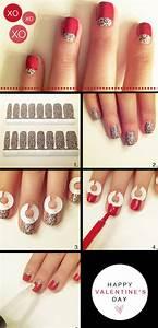 15+ Easy Step By Step Valentine's Day Nail Art Tutorials ...