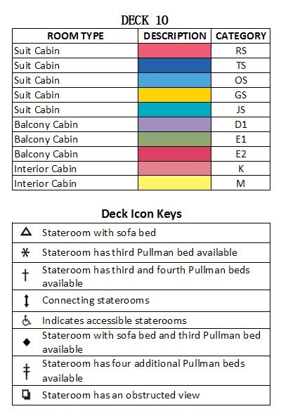 Radiance Of The Seas Deck Plan 9 by New Zealand Cruise Sale Australia