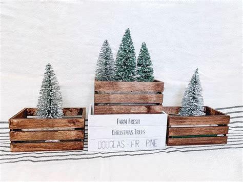 dollar tree mini tree crates diy diy christmas decorations dollar store dollar