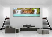 home wall art Tropical Island Waterfall Panoramic Picture Canvas Print Home Decor Wall Art | eBay