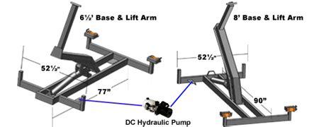 hydraulic sled deck alberta amerideck hydraulic loading motorcycle towing system