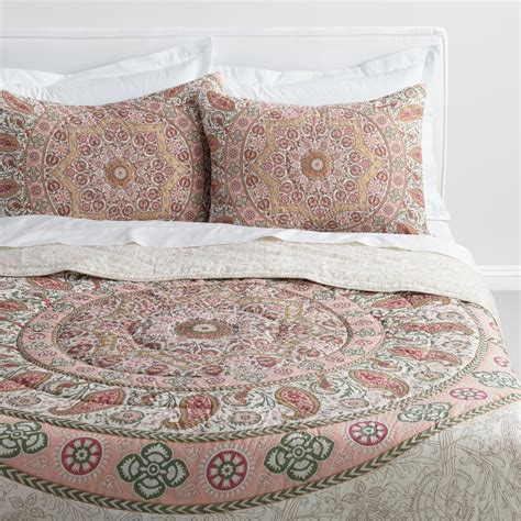 34398 world market bedding blush medallion mariana bedding collection world market