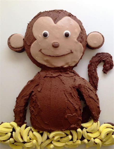 monkey birthday cake template sampletemplatess