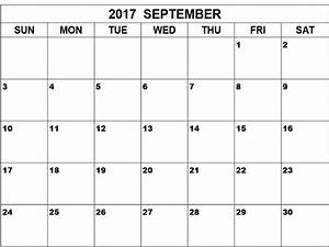September 2017 Calendar Word | Calendar Template Letter ...