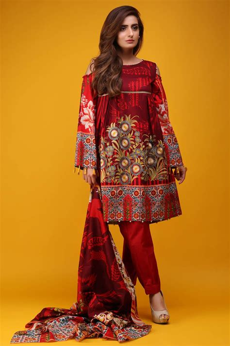 warda latest summer dresses printed embroidered