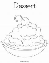 Coloring Dessert Pages Happy Colouring Ice Cream Drink Twistynoodle Cake Cherry Built California Usa Getcoloringpages Rights Designer Birthday Noodle sketch template