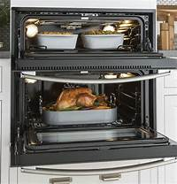 single double oven GE PT9200SLSS Built In Single-Double Electric Wall Oven ...