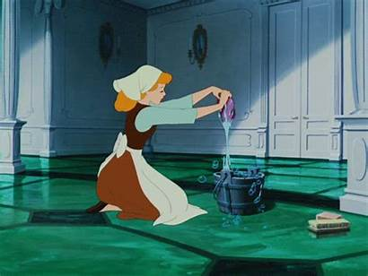 Cinderella Cleaning Maid Disney Clean Before Rooms