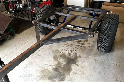 jeep trailer build how to build a jeep trailer step 1a for off road usage