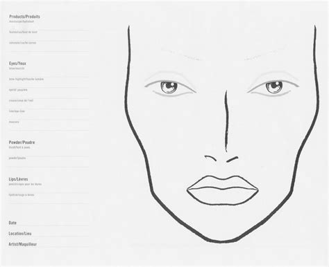 Theatrical Makeup Design Template by Stage Face Template Stage Makeup Face Painting Hair