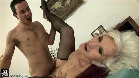 Old Sex Fiend Gets Her Grey Haired Pussy Nailed Missionary