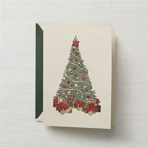 traditional christmas tree holiday greeting cards paperstyle