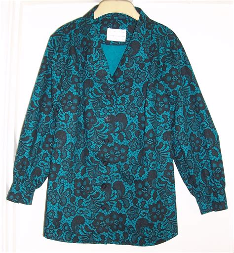 teal blouses teal lace print blouse ceegee in stitches