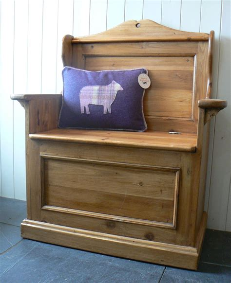 Polwood Cabinets by Reclaimed Pine Small Settle Quality Oak Furniture From