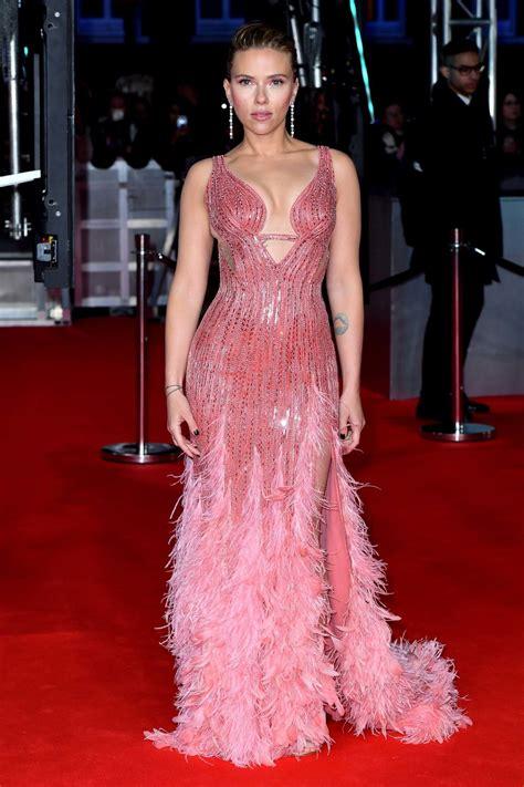 Scarlett Johansson on the red carpet at the 2020 BAFTAs ...