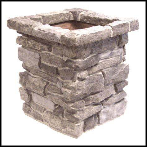 Simulated Stone Planters , Rock Veneer Planters , Stone
