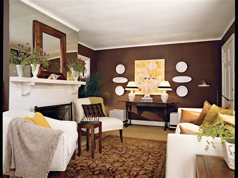 Decorating Ideas For Living Room Brown by Chocolate Brown Living Room Southern Living
