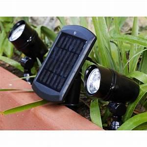 Eclairage Exterieur Telecommande Leroy Merlin : lot de 2 spots solaire chili 48 lm noir inspire leroy merlin ~ Dailycaller-alerts.com Idées de Décoration